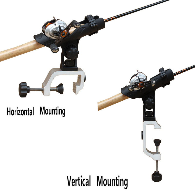 Brocraft Power Lock Fully Adjustable Rod Holder with Aluminum Universal Clamp/Jon Boat Rod Holder