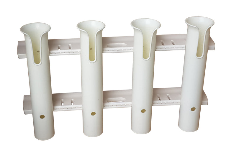 Brocraft Tackle Rack Fishing Rod Holder 4-Rod White