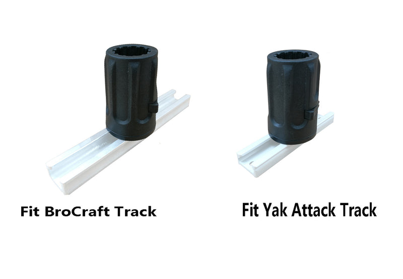 Brocraft Anchor Lock System with Fishing Kayak Track Adaptor/Kayak Track Anchor System