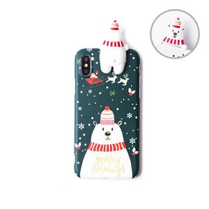 Christmas Cartoon Deer Phone Case