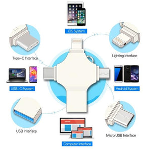 4 in 1 USB Drive for  Phone & Tablet