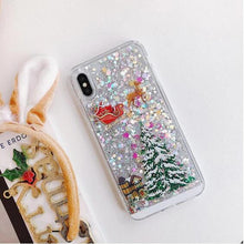 Load image into Gallery viewer, Christmas Flash Powder Phone Case
