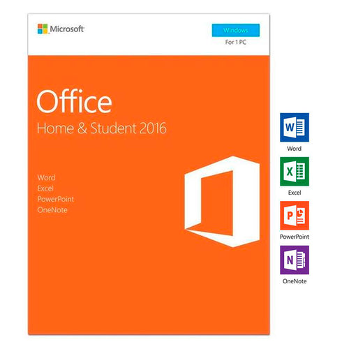 Microsoft Office 2016 Home and Student , Product Key Card - Box