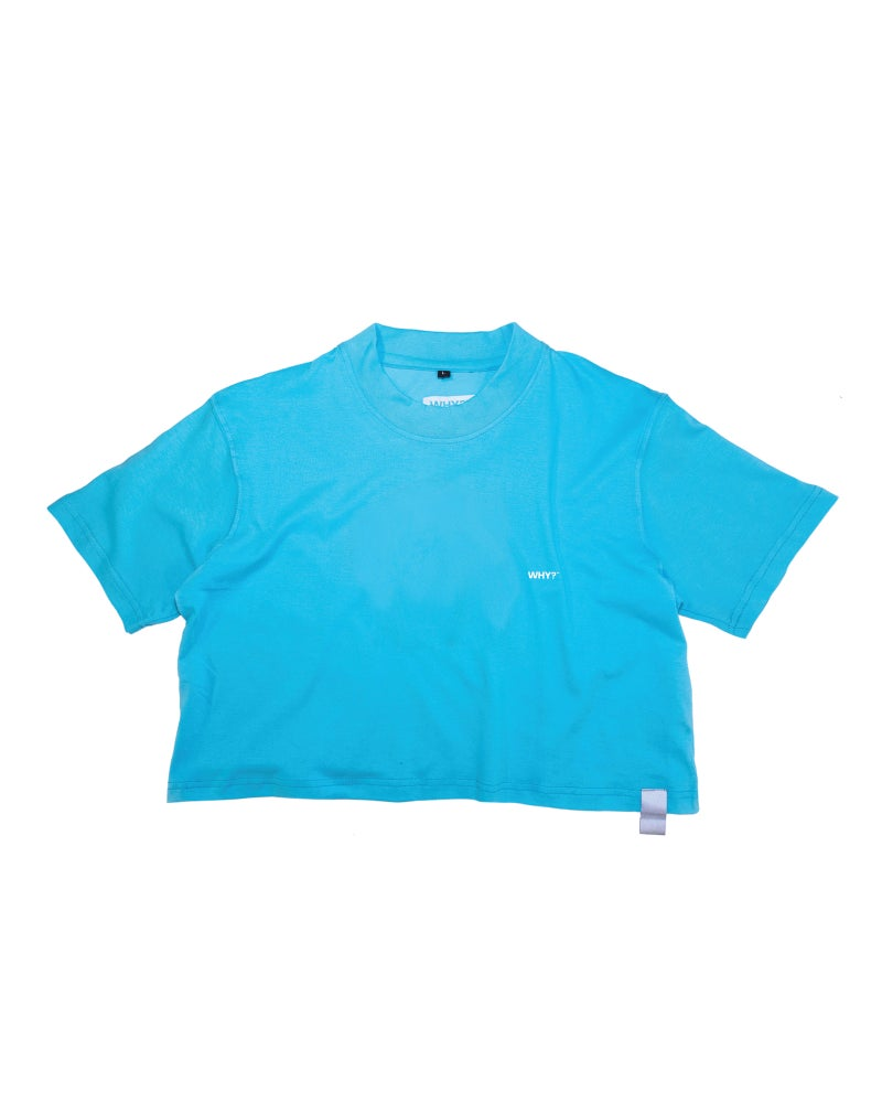 halftone crop t-shirt (electric)