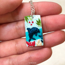 Load image into Gallery viewer, Rectangle Dolphin Pendant