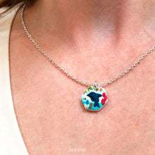 Load image into Gallery viewer, Hexagon Dolphin Pendant