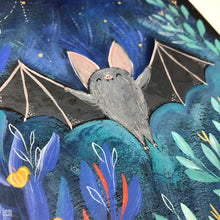 "Load image into Gallery viewer, ""Hello October"" Bat Painting"