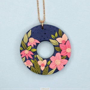 Botanical polymer clay jewellery