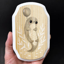 "Load image into Gallery viewer, ""Don't feed the monkeys"" Illustration on Wood"