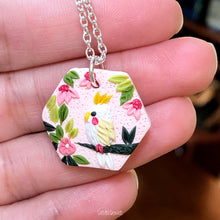 Load image into Gallery viewer, Hexagon Parakeet Pendant