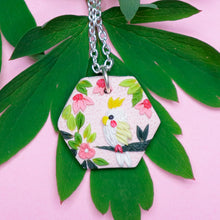 Load image into Gallery viewer, Parakeet-large-polymer-clay-pendant-neklace