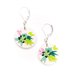 Succulent_Polymer_clay_earrings_925_sterling_silver_leverback