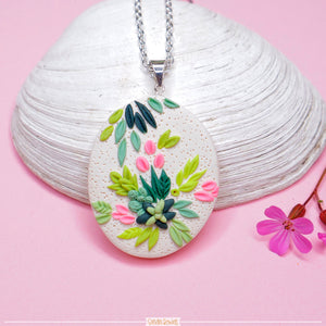Succulent_Polymer_clay_jewelry_necklace
