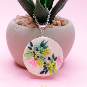 Succulent_Polymer_clay_jewelry_handmade