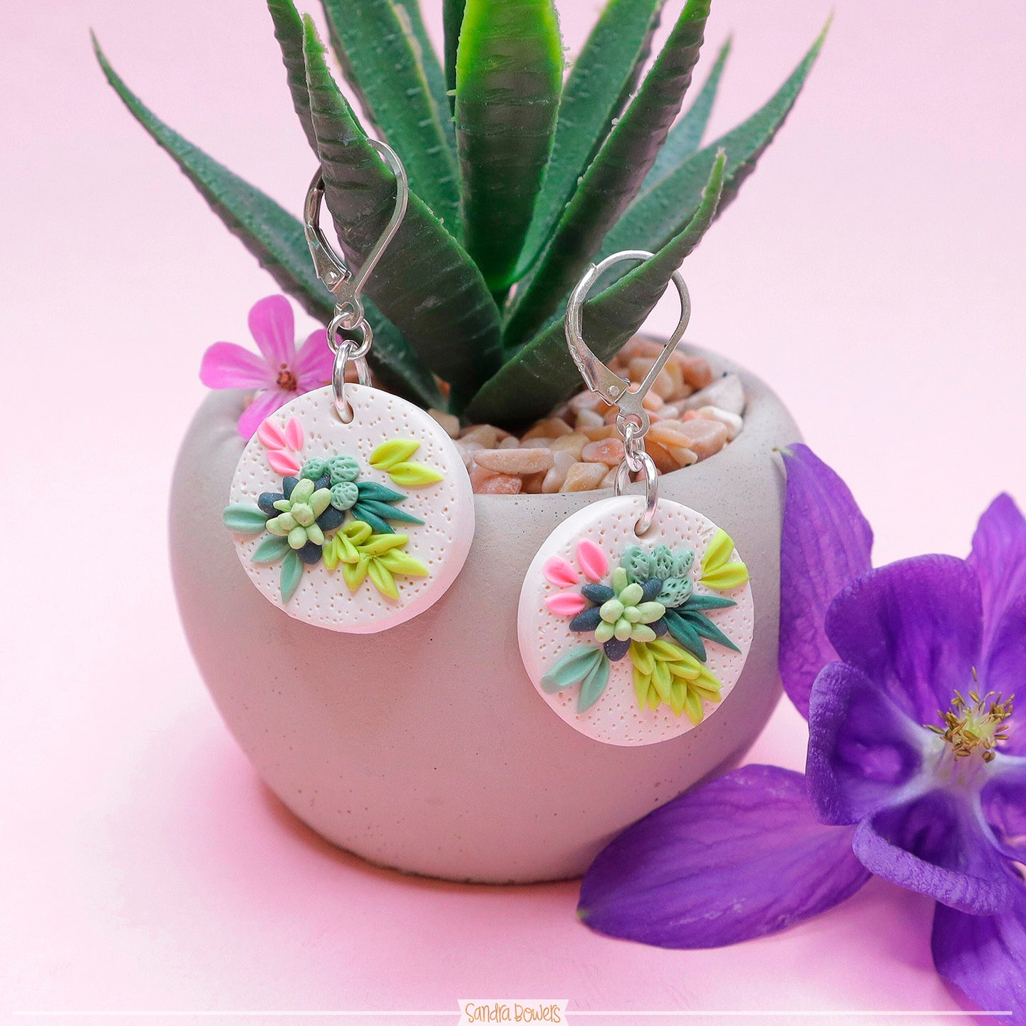Succulent_lover_Polymer_clay_jewellery_handmade