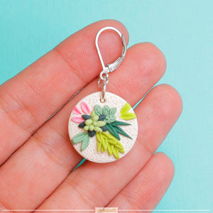 Succulent_Polymer_clay_jewelry_handmade_in_canada