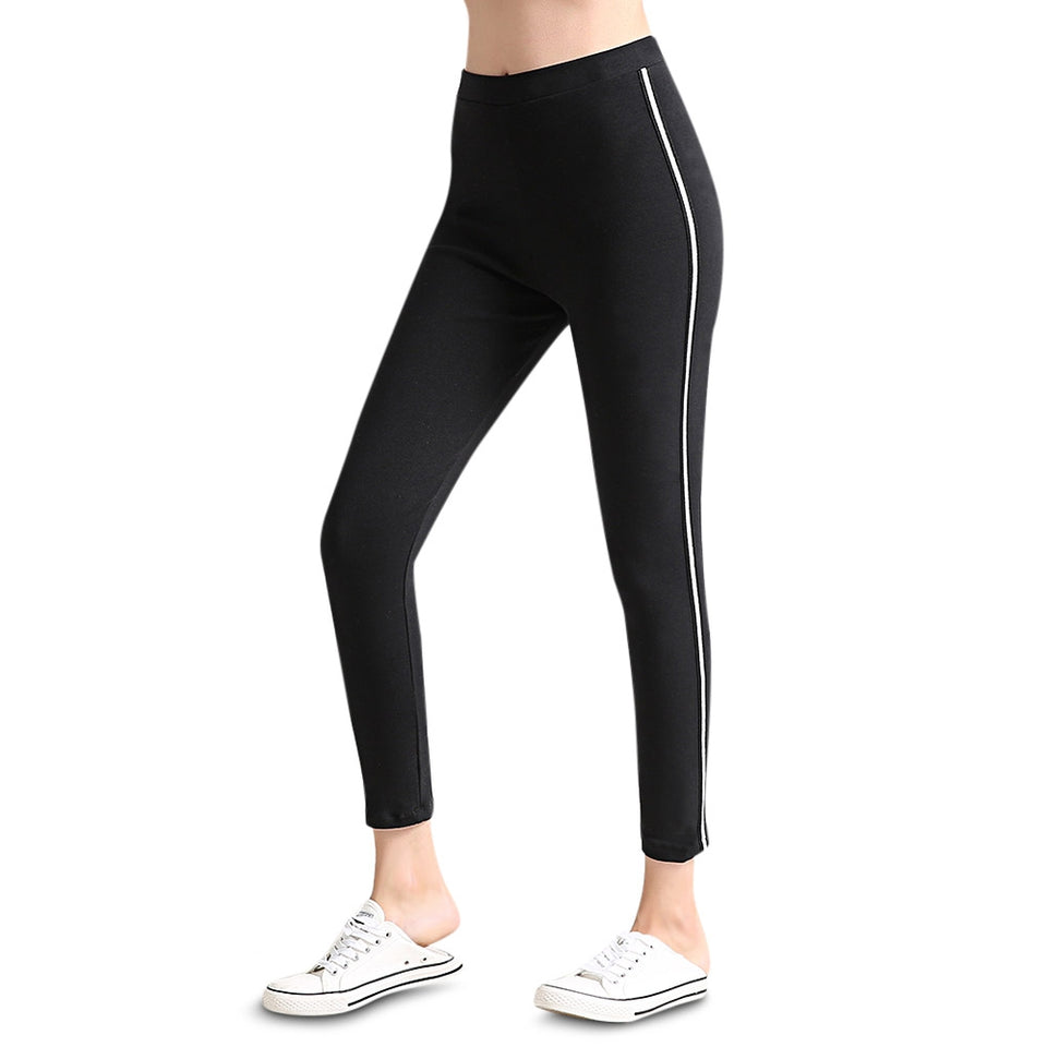Sweatpants Women Sport Casual Pants Striped Side Female Trousers