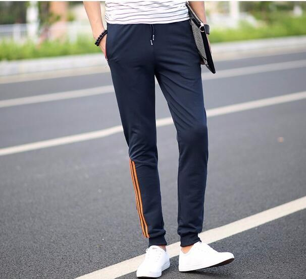 Joggers Striped Slim Fitted Pants Gyms Clothing