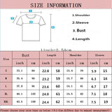 Summer Vogue Girl Print Women Short Sleeve T-Shirt