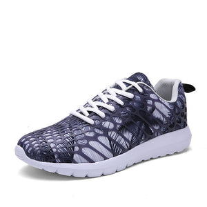 Sneakers Sport Shoes Lace-Up Camouflage Mesh