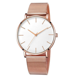 Ultra-Thin Rose Gold Women Watch