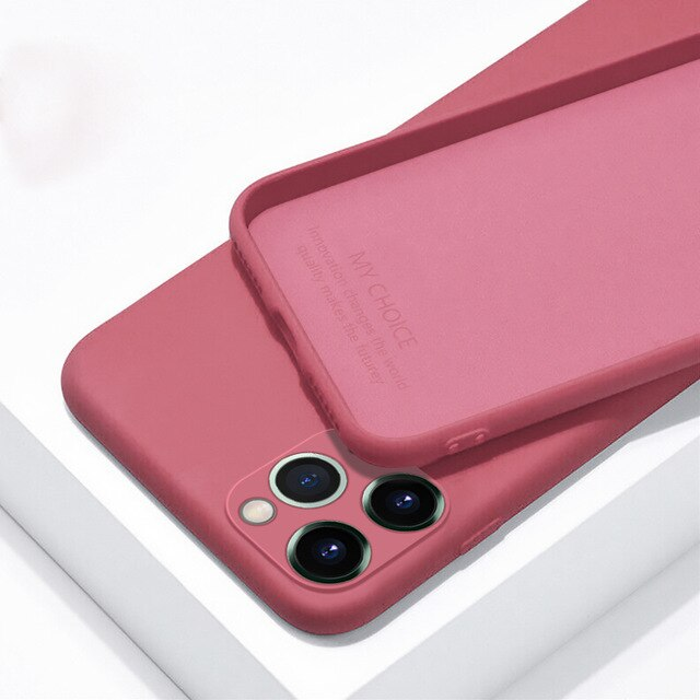 iPhone 11 Pro Etui Luxuriöses Silikon-Vollschutz-Softcover iPhone X XR 11 XS Max 7 8 6 6s