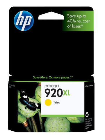 HP 920XL (CD974AN) High Yield Yellow Original Ink Cartridge (700 Yield)