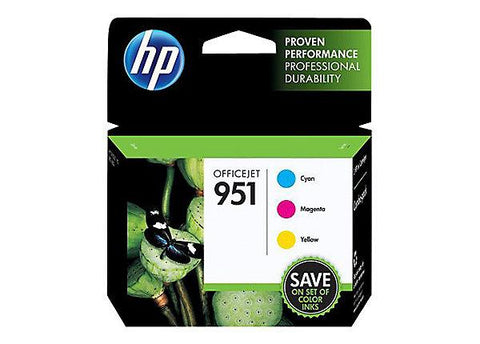 HP 951 (CR314FN) 3-Pack Cyan/Yellow/Magenta Original Ink Cartridges (3 x 700 Yield)