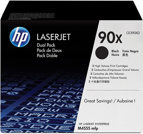 HP 90X (CE390X) Black Original LaserJet Toner Cartridge (24000 Yield)
