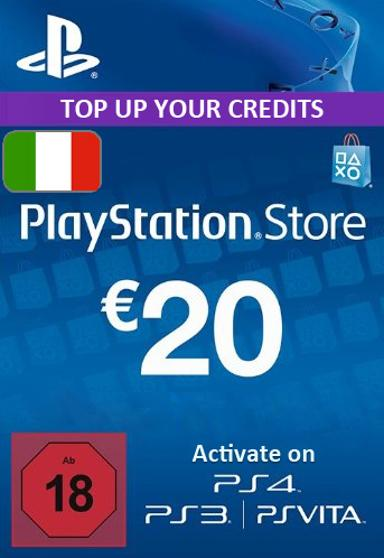 Playstation Network Card (PSN) u200eu20ac20 (Italy)