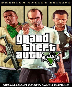 Grand Theft Auto V GTA 5 - Premium Online Edition & Megalodon Shark Card Bundle