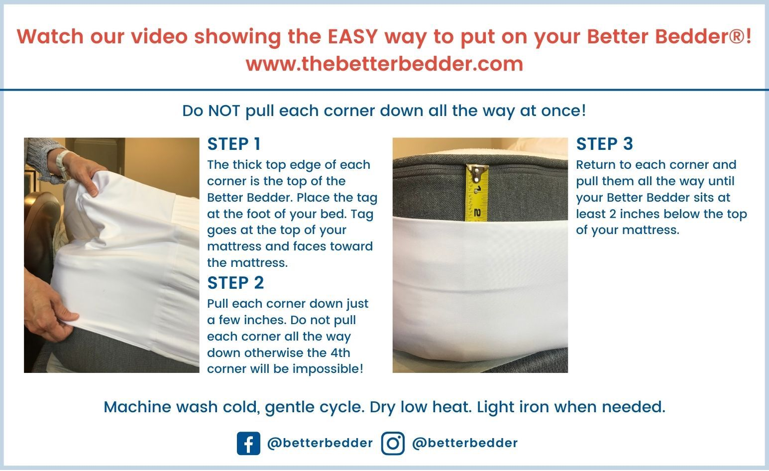 Better Bedder Instructions