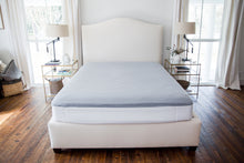 Load image into Gallery viewer, Bed Making Made Easy! How to keep fitted sheets from popping off? Tired of your fitted sheet popping off at night? Try the Better Bedder now! The Better Bedder will hold your fitted sheets tight & in place on your mattress. No more fitted sheets popping off! You can even eliminate the fitted sheet if you wish!