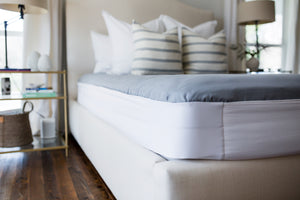 How to keep sheets on your bed hack - The Better Bedder! The Better Bedder will keep sheets on your bed! No more straps, zippers, or clips. You put it on once and it becomes a part of your mattress. Any sheet from any store will fit perfectly on your mattress. Works on most adjustable beds.