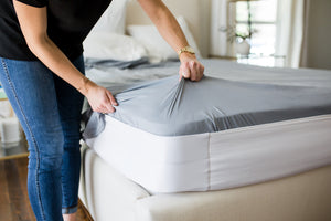 How to stop bed sheets from moving or coming off your bed without using straps, zippers, or clips. The Better Bedder will keep sheets on your bed! You put it on once and it becomes a part of your mattress. Any sheet from any store will fit perfectly on your mattress. Sheets stay tucked in.