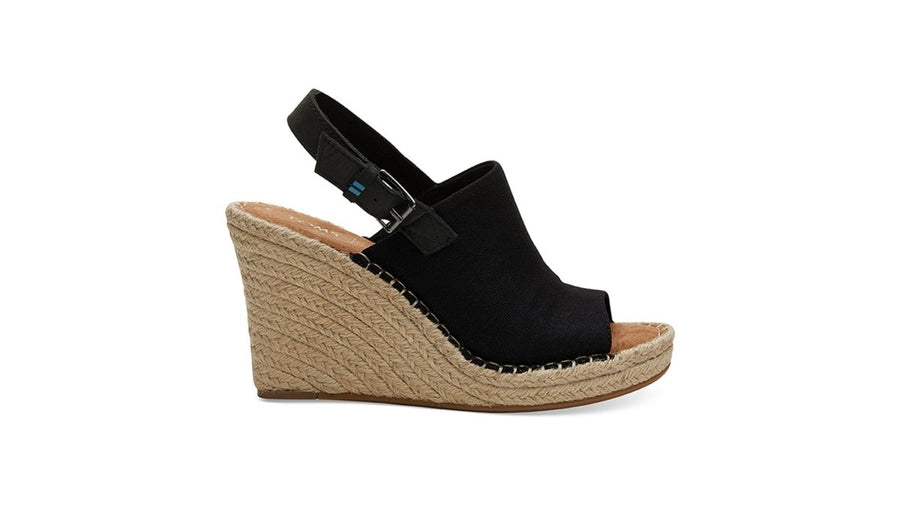 Monica Wedge Women's - Black Hemp