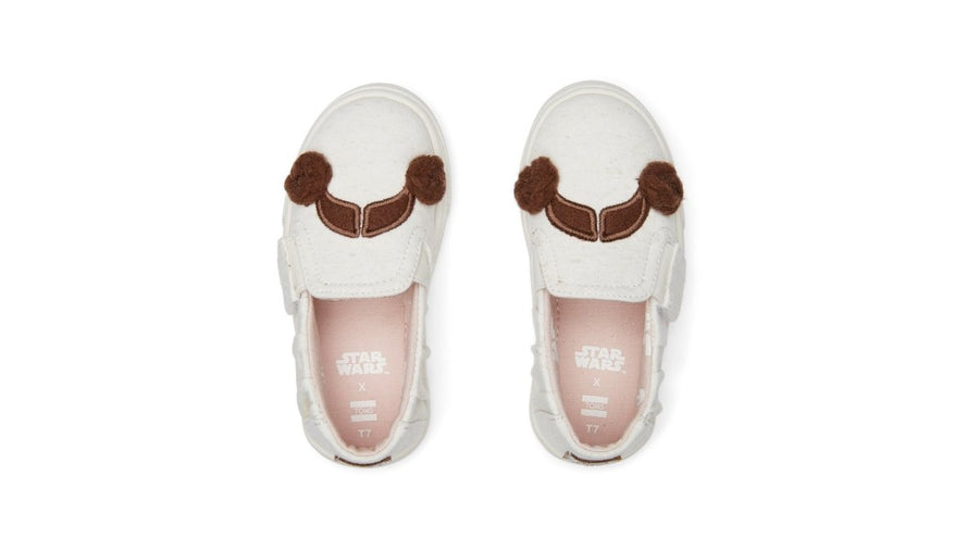 Luca Slip-on Tiny - Natural Princess Leia Print