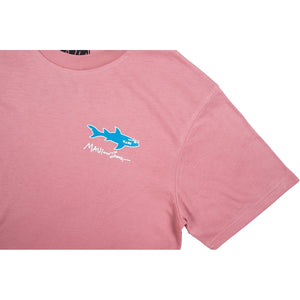 STRAIGHT SHARK TEE - ROSE TAN