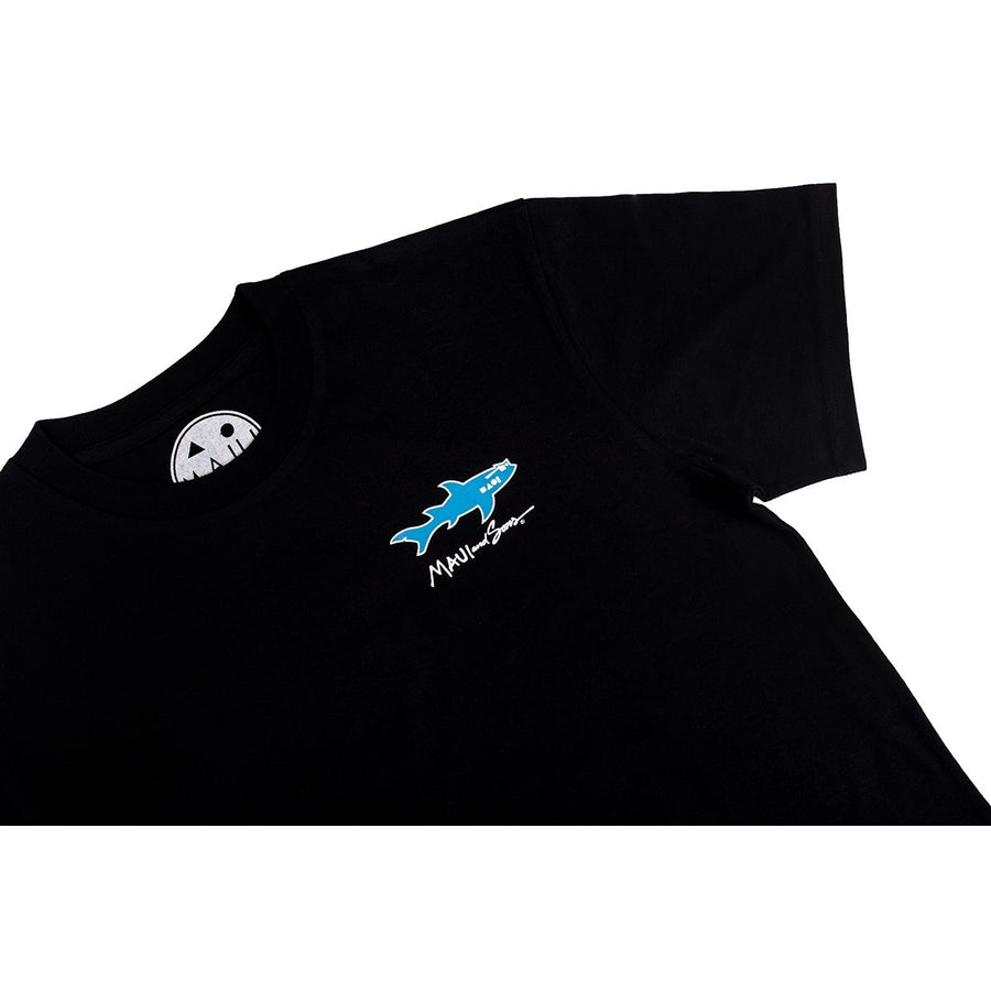 STRAIGHT SHARK TEE - BLACK