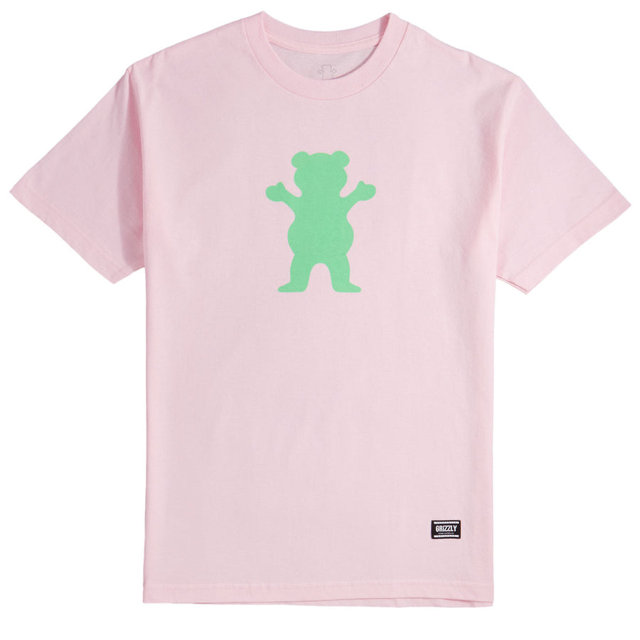 OG Bear Basic Tee - Pink / Green