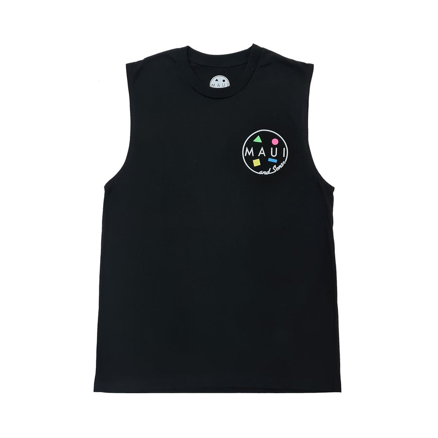 LOGO MUSCLE TEE - BLACK