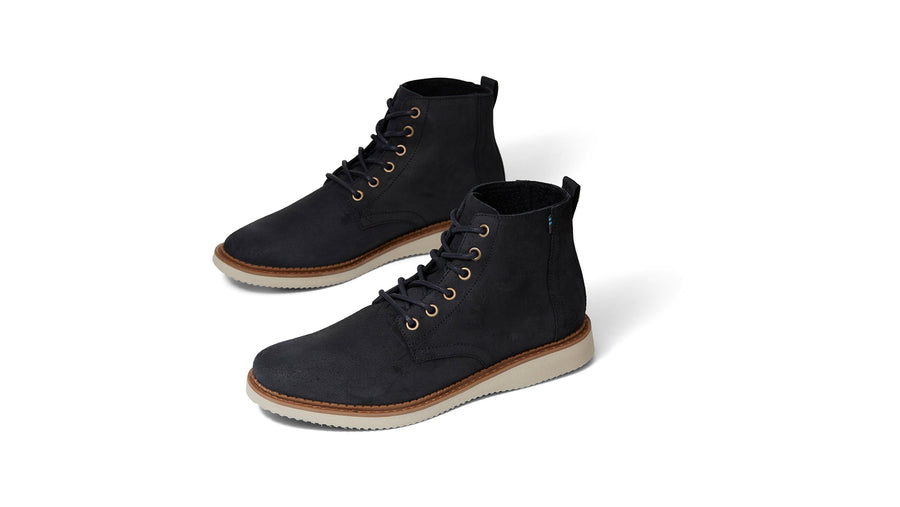 Porter Boots - Black Waxy Suede