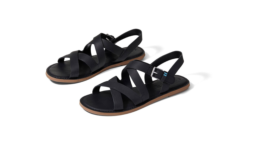 Sicily Sandals - Black Leather