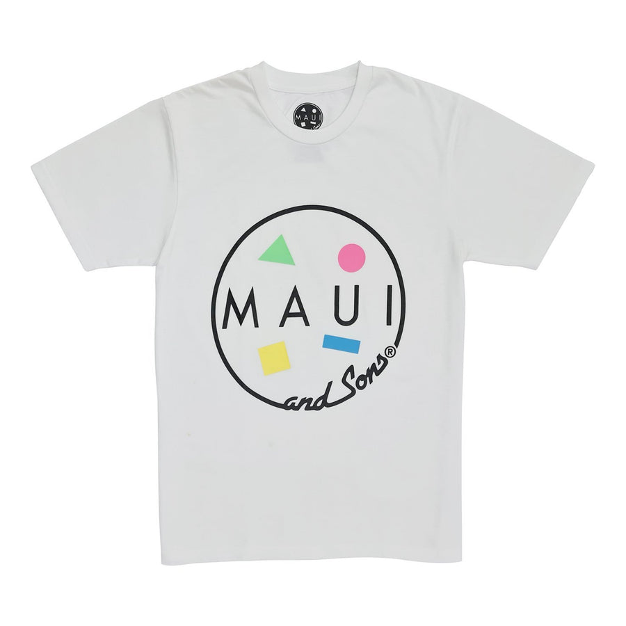 ROUND NECK LOGO TEE - WHITE