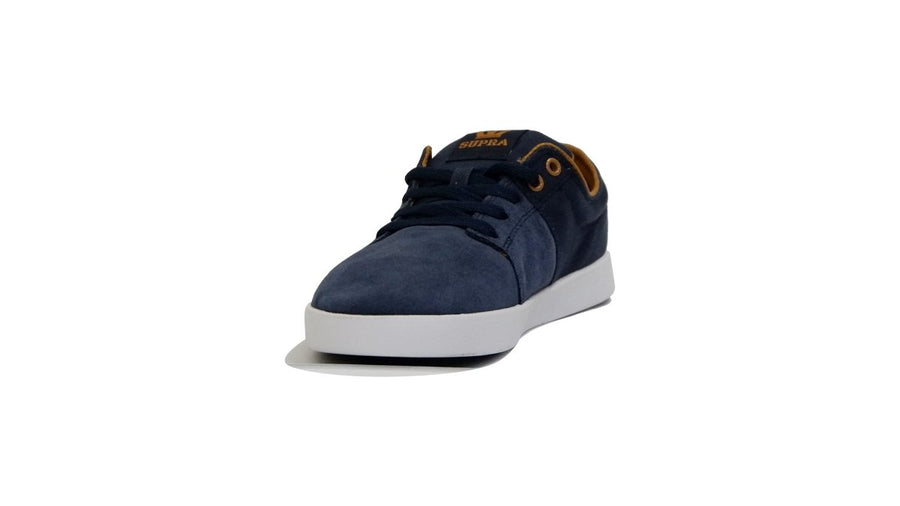 Stacks II - Navy/Tan-White