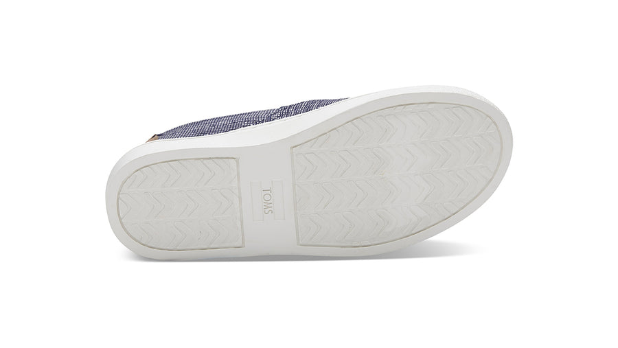 Luca Slip-Ons Youth - Navy Striped Chambray