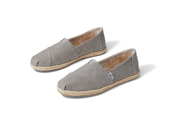 Alpargata Espadrille Women's - Drizzle Grey Washed Canvas