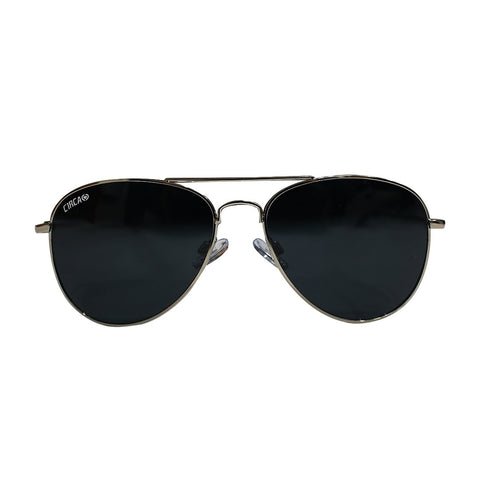 Aviator 1 Thin Frame Eyewear - Silver / Navy Blue