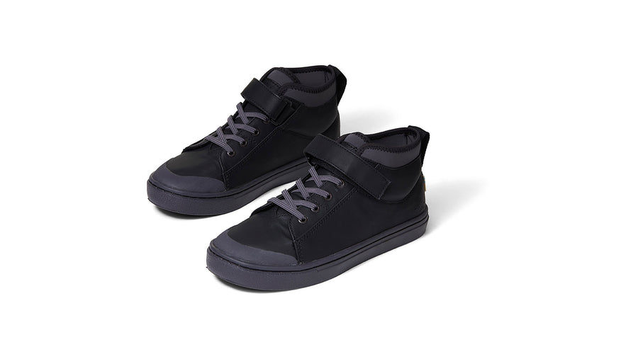 Cusco Sneakers Youth - Black Leather