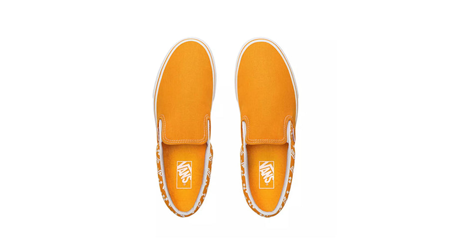Classic Slip-On Men's (Logo Repeat) - Cadmium Yellow/True White